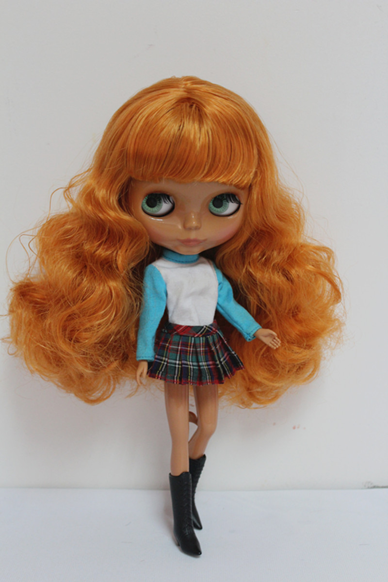 Free Shipping big discount RBL-102DIY Nude Blyth doll birthday gift for girl 4colour big eyes dolls with beautiful Hair cute toy free shipping big discount rbl 331 diy nude blyth doll birthday gift for girl 4colour big eye doll with beautiful hair cute toy