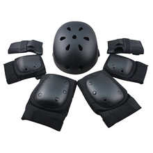 LANOVA 7pcs/Set protective patins Set Helmet Knee Pads Elbow Pads Wrist Protector Protection for Scooter Cycling Roller Skating