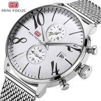 MINIFOCUS 남자 시계 탑 럭셔리 브랜드 스포츠 시계 망 석영 손목 시계 남성 시계 Relogio Masculino MF0135G.10