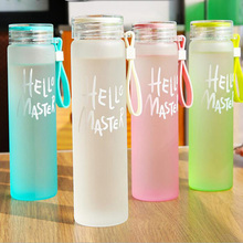 480ML Glass Water Bottle Drinking Fashion bottles With Lid direct drinking Bottles
