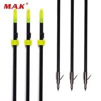 3 6 12 Pcs Lot Black Fishing Arrow OD 8mm Shaft Length 82cm With Fishing Arrowhead