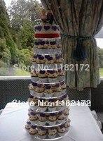 Yaxin 8 ярусов круглый Бесплатная доставка красивый акрил кекс стенд вечерние/Свадебные/праздничные поставки