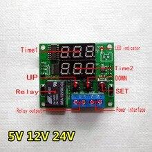 цена Digital display time relay 24v 12v 5v cycle control relay 54 combinations онлайн в 2017 году