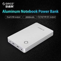 ORICO 28800mAh Notebook Power Bank Aluminum Alloy Dual USB Output One DC 12 15 19V Port