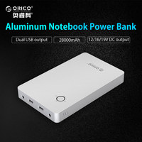 ORICO 28800mAh Notebook Power Bank Aluminum Alloy Dual USB Output One DC 12 15 19V Port