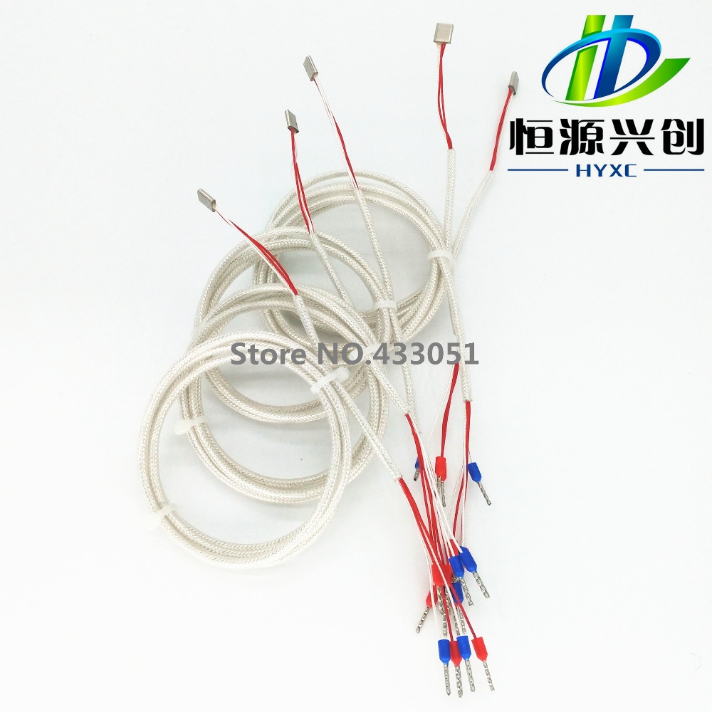 Free Shippingpt100 Temperature Sensor 1 M Long Silver Plated Fan 3wire To Power Supply 4wire Takeoff Cable Case3pin Nickel Wire Four Fluorine Shielding