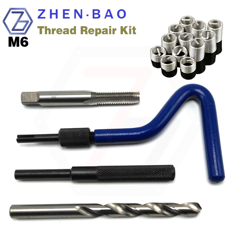 M6 *1.0 , metric thread insert repair kit , Auto Repair Tool set , Screw Insert , ST Tap , Install Handle , Break Tool , Drill m16 1 5 thread repair tool wire thread insert tool screw bushing tool install tool