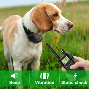 Image 4 - Petrainer 900B 1 Rechargeable and Waterproof Remote 1000m Electric Dog Trining Collars  Vibrate & Electric Shock Collar For Dogs
