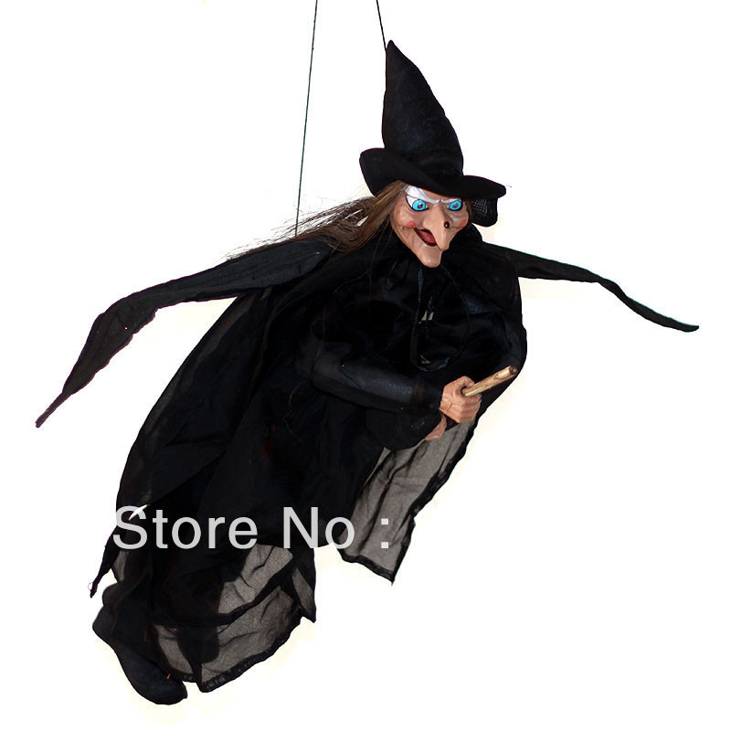 decorative t wrapping picture more detailed picture about flying witch halloween decoration
