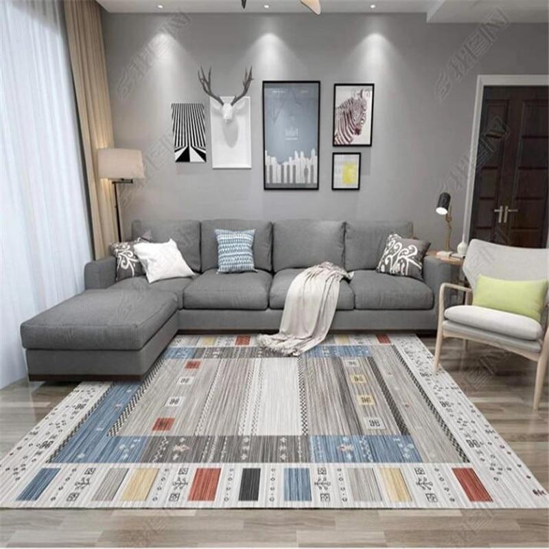 Bohême Style ethnique tapis salon chambre cristal cachemire imprimé Table basse tapis européen tapis de bain tapis de toilette