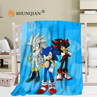 Custom big size Sonic The Hedgehog Blankets for beds Falafel warm winter sleeping sofa blanket 58x80inch 50X60inch 40X50inch