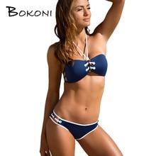 2017 sexy bikini set halter de las mujeres bikinis traje de baño triángulo traje de baño traje de baño tankini vendaje biquini monokini traje de baño