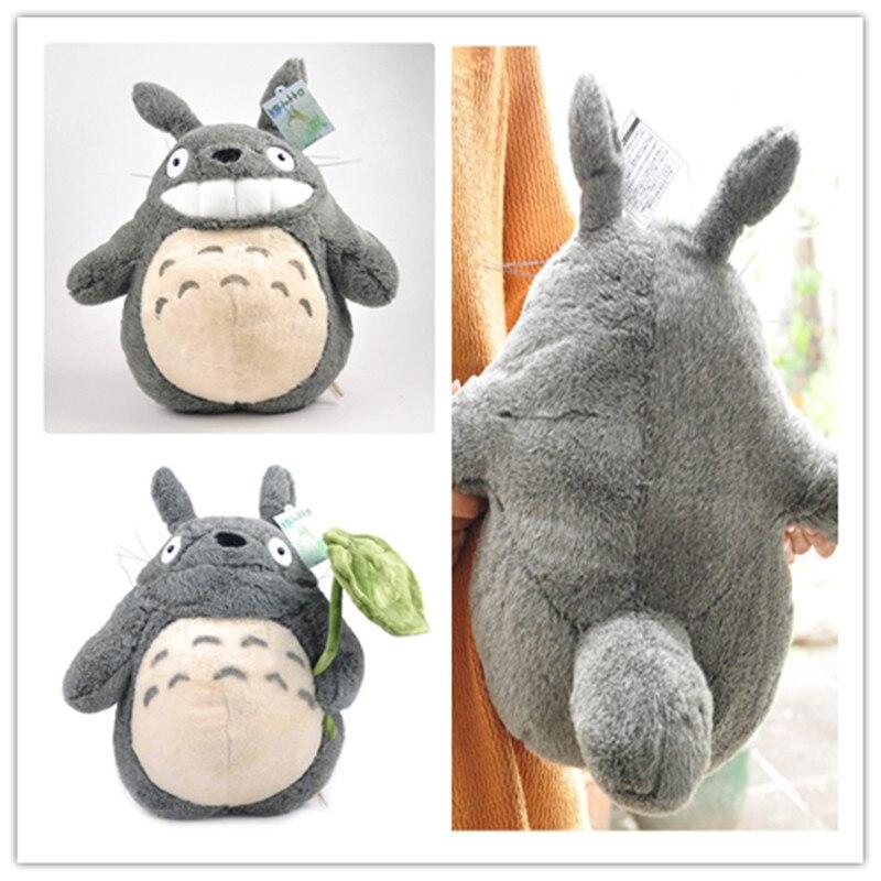 40cm Hayao Miyazaki 2 Style Leaves Totoro Pillow Super Kawaii Cute Funny Animal Kids Love Birthday Gift Soft Stuffed Plush Doll