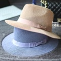 Summer Fashion Wide Brim Bow Knitted Fedora Hat For Women Chapeu Feminino Sun Beach Caps Free Shipping WMDS-010