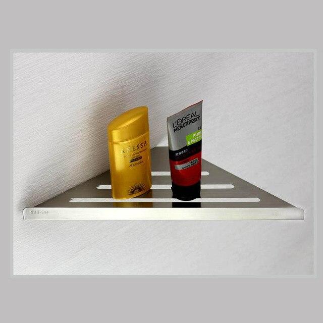 304 edelstahl Badezimmer Eckregal Gebürstete Oberfläche Halter in ...