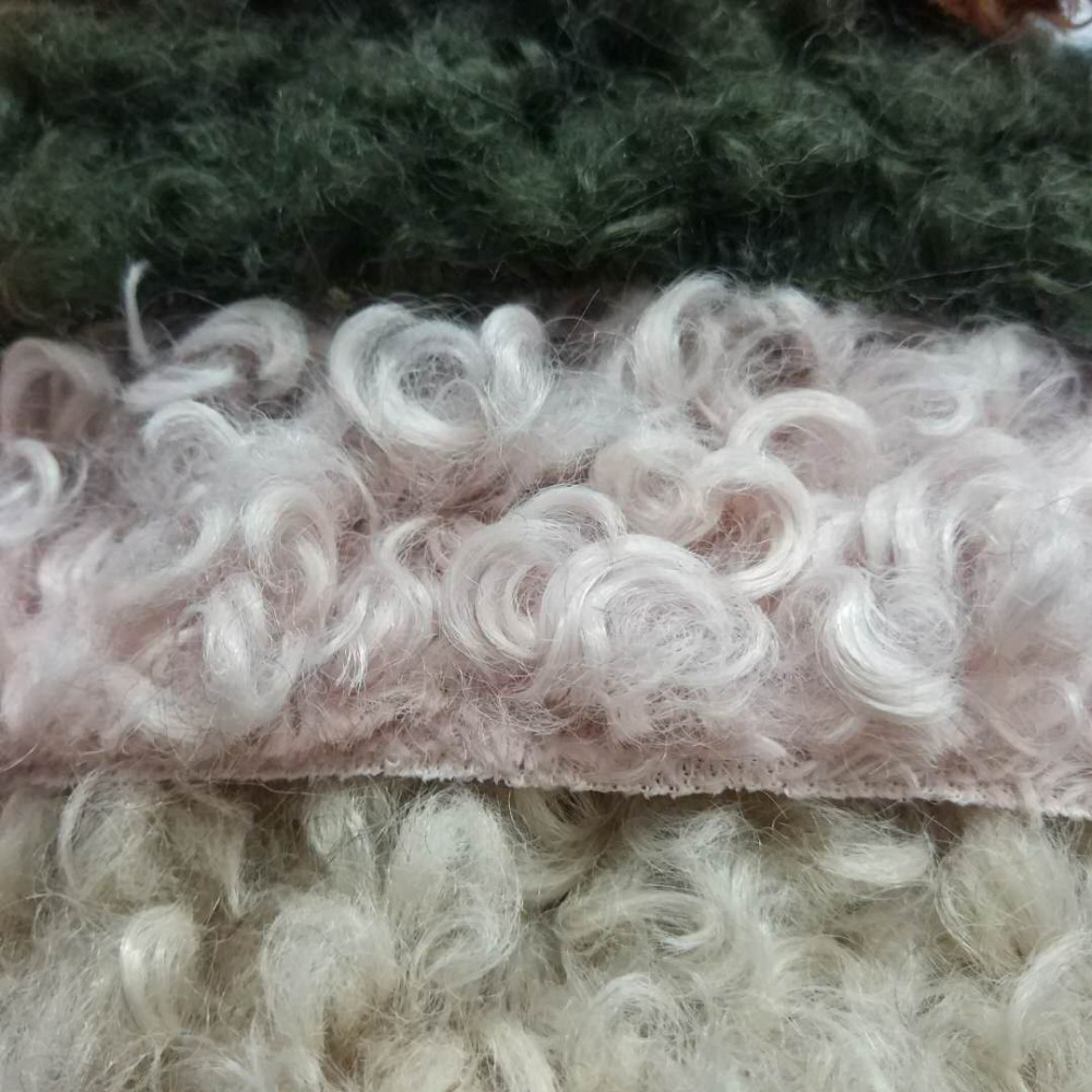 40cm*160cm High Grade Rolled Sheep Faux Fur Fabric For Winter Coat Faux Rolled Sheep For DIY Fur Material 160cm Wide JXYF-58A
