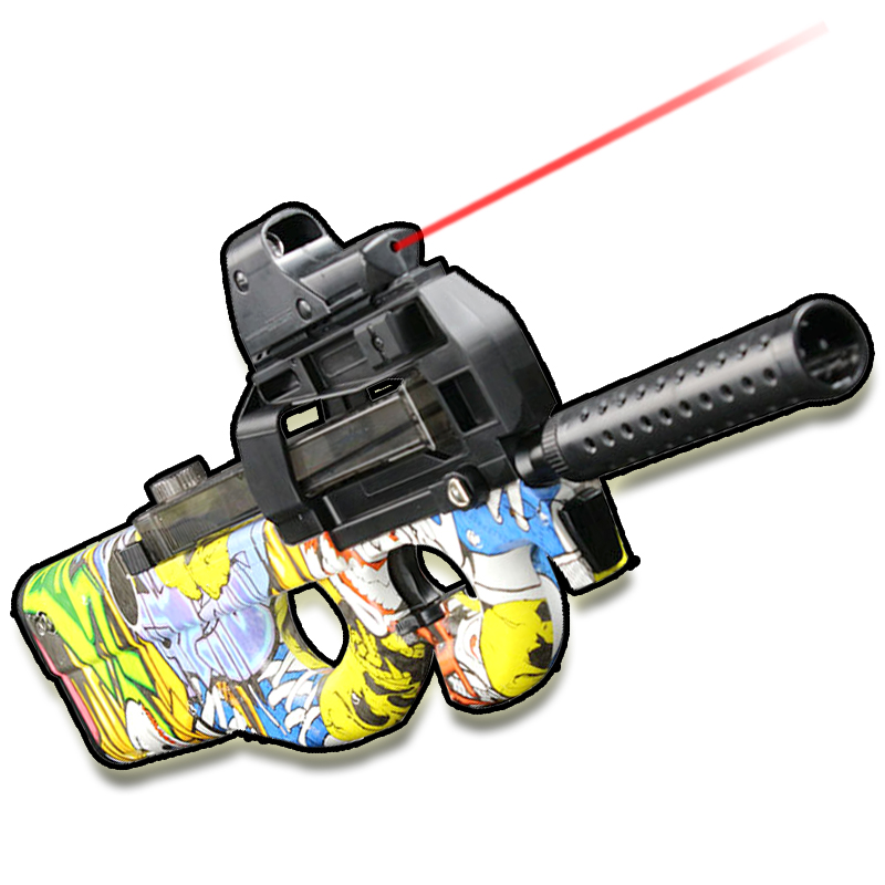все цены на Live CS Game Toy Gun airsoft air guns P90 Submachine Gun Christmas Gift Kid Toy Guns airsoft pistol Outdoor Fun Sports Graffiti онлайн