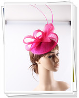 높은 품질 16 컬러 OEM 칵테일 매혹 머리띠 Sinamay 자료 루프 헤어 액세서리 파티 댄스 파티 신부 모자 모자