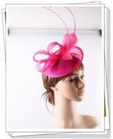 16 צבע באיכות גבוהה OEM אביזרי שיער סרט Fascinator בסיס Sinamay עם לולאה קוקטייל מסיבת נשף הכלה Hat בארה 'ב