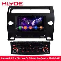 KLYDE 7 4GB RAM 32GB ROM Octa Core PX5 Android 8.0 7.1 6.0 BT Car DVD Multimedia Player For Citroen C4 Quatre Triumph 2004 2012