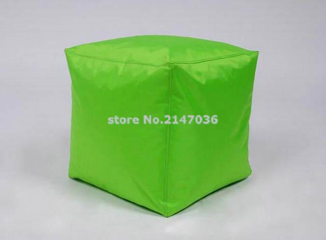 Tienda Online Nuevo diseño verde cubo Bean bag asiento reposapiés ...
