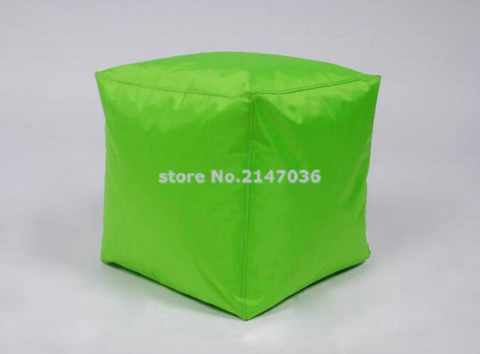 new design green cube bean bag seat cushion foot rest stool, small home furniture ottoman chair раскладушка therm a rest therm a rest luxurylite mesh xl