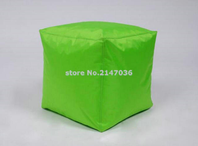 New Design Green Cube Bean Bag Seat Cushion Foot Rest Stool, Small Home  Furniture Ottoman