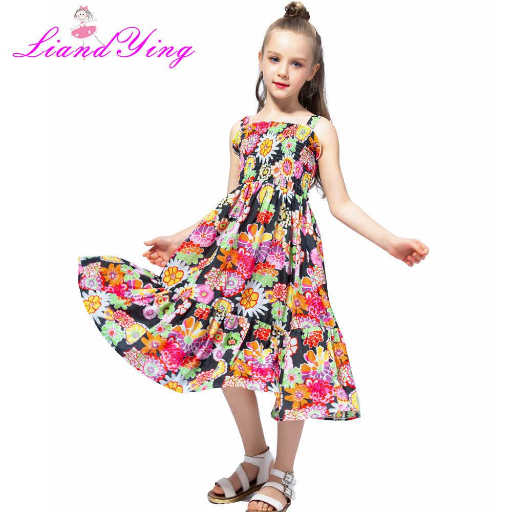 Vestido De Verano Sin Mangas De Chifón Para Niñas Vestidos Para Niñas Vestidos Florales Para Niñas De 2 A 12 Años