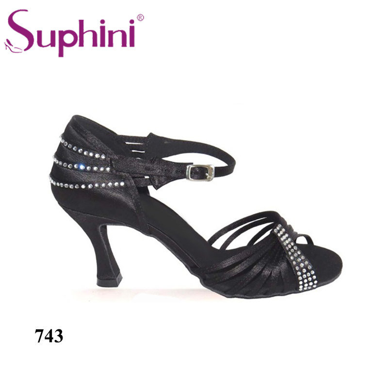 Free Shipping Ladies High Heel Orange Dance Shoes Salsa Latin Competition Crystal Dance Shoes n 116 1 ladies ballroom latin dance shoes crystal diamond dance shoes fast shipping worldwide