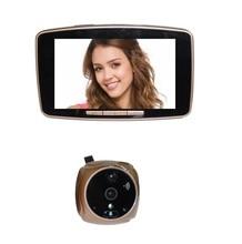 Videoglazok door peephole 2017 New 5.0inch Touchable LCD IR Night vision Motion Sensor SIM call MMS Alarm peephole video eye