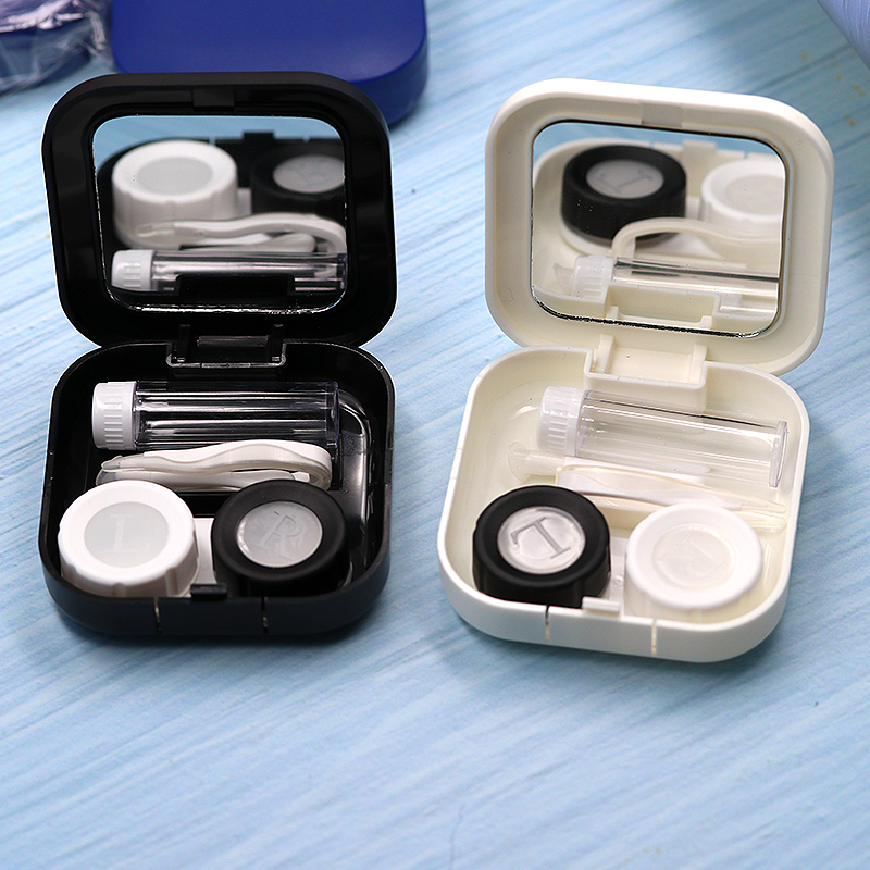 COLOUR_MAX Contact Lens Case With Mirror Contact Lenses Colorful Eye Container