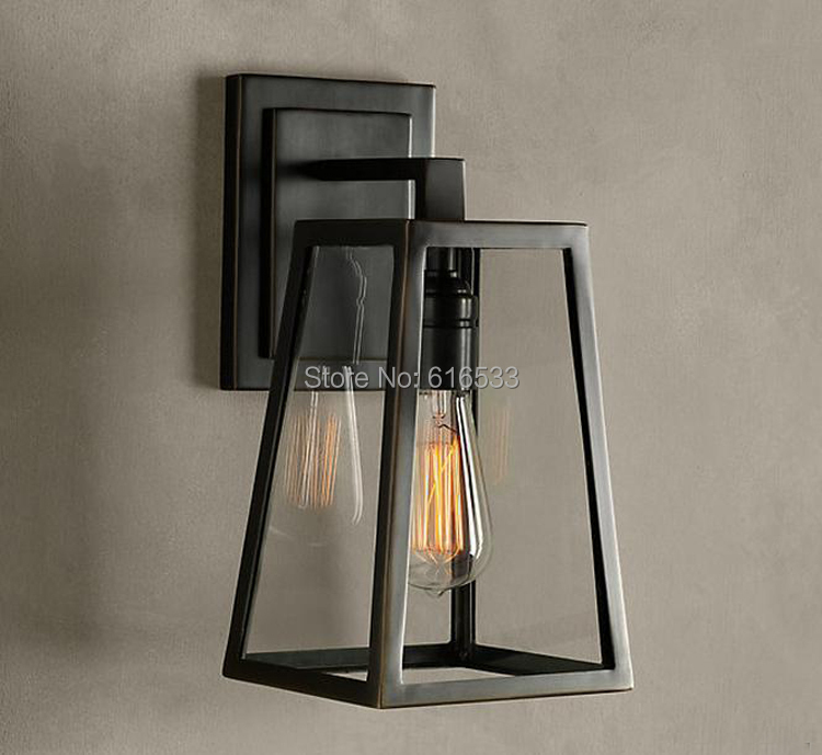 RH Loft Industrial Vintage American Style Lustre Edison Copper Wall Sconce Lamp Bedside Mirror Coffee Modern Home Decor Lighting loft vintage nostalgic industrial lustre water pipe edison wall sconce lamp resturant hotel bar stair home decor modern lighting
