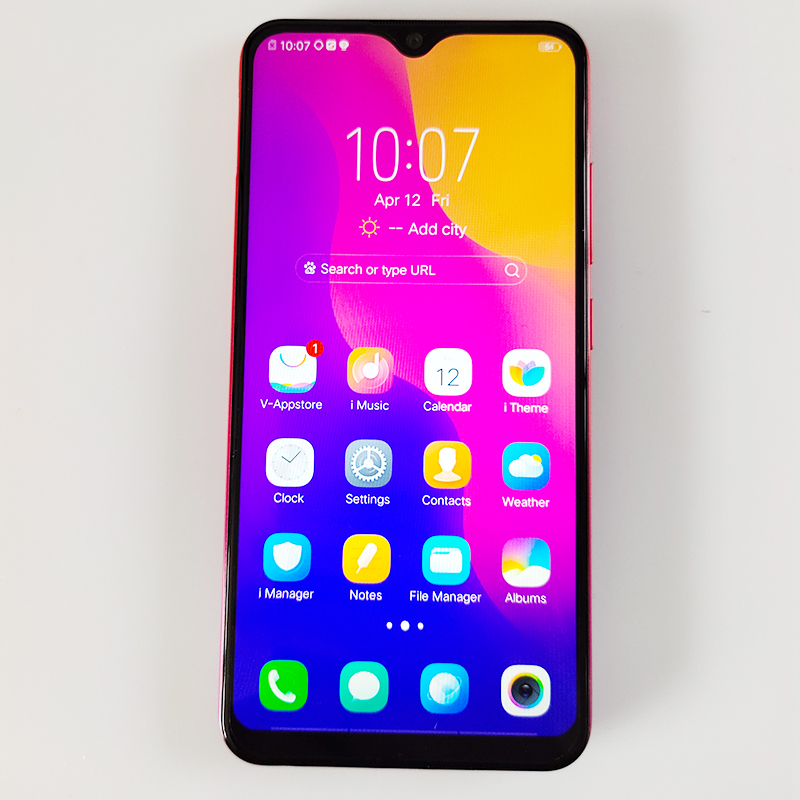 Vivo Y93 Original Android 8.1.0 MT6762 reconnaissance faciale de téléphone intelligent 6.2 pouces 3 caméras 1520x720 13MP + 2MP Octa Core 4030 mAh