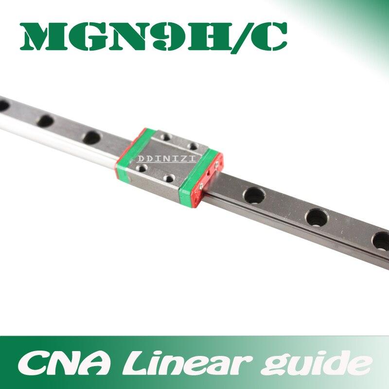 9 milímetros Guia Linear MGN9 100 150 200 250 300 350 400 450 500 550 600 700 milímetros trilho linear + MGN9H ou MGN9C bloco CNC impressora 3d