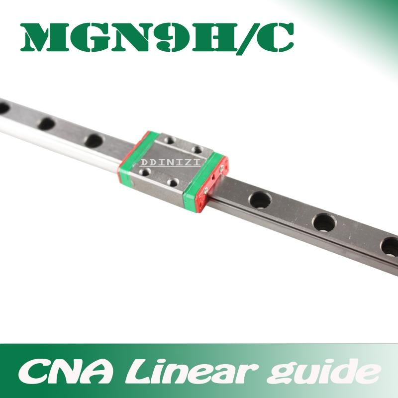 9mm guia linear mgn9 100 150 200 250 300 350 400 450 500 550 600 700 mm trilho linear + mgn9h ou mgn9c bloco impressora 3d cnc