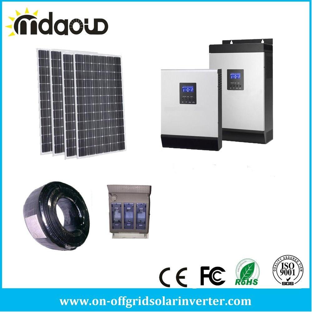 Решетки солнечных комплект PV 1500 Вт солнечные панели/5kva 4KW инвертор/Зарядное устройство 60a <font><b>MPPT</b></font>/аксессуары/ кабели