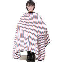 Beliebte Salon Barber Friseur Kleid Mit Druckknopf Neck Fertig Haar Cape Anti Static Mode Design Heißer Verkauf Stylist Wrap