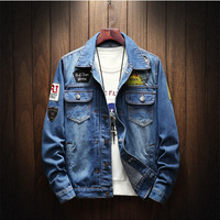 Denim Jacket Men's New Fashion Youth Cowboy Cotton Slim Fit Single Breasted Jackets Casual Autumn male Slim Coat Plus Size 5XL
