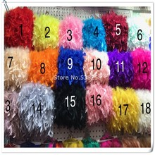 10 Meters/lot fluffy Beautiful Turkey feathers ribbon fringe 6-8inch turkey feather trimming for carnival costumes DIY Clothing