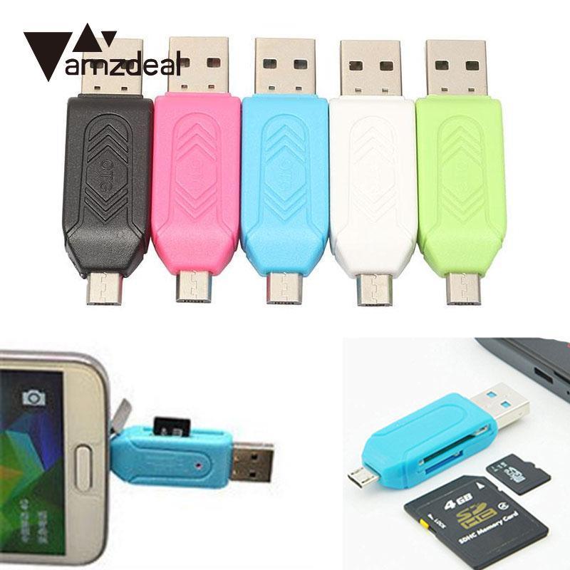 AMZDEAL Universal High Speed SD Micro SD Card Reader OTG