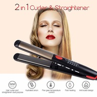 Top Ceramic Hair Straightening Irons Flat Iron LED Hair Tools Professional Hair Curler Curling Hair Straightener