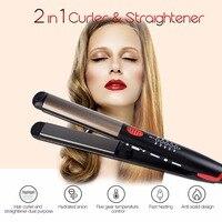 Top Ceramic Hair Straightening Irons Flat Iron LED Hair Tools Professional Hair Curler Curling Hair Straightener