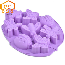 Baking Tools Insect/Bee/ Butterfly Shape Cake Mold  Silicone Candy Jelly Chocolate Mould Decorator