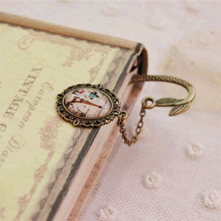 Newest Vintage Design Alloy Bookmarks For Book Creative Retro Metal Bookmark Supplies Gift Mermaid Beaded Fashion Bookmark