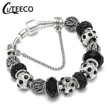 CUTEECO очаровательный браслет посеребренные полые муранские Бусины Подходят горячая Распродажа бренд браслеты для женщин ювелирные изделия