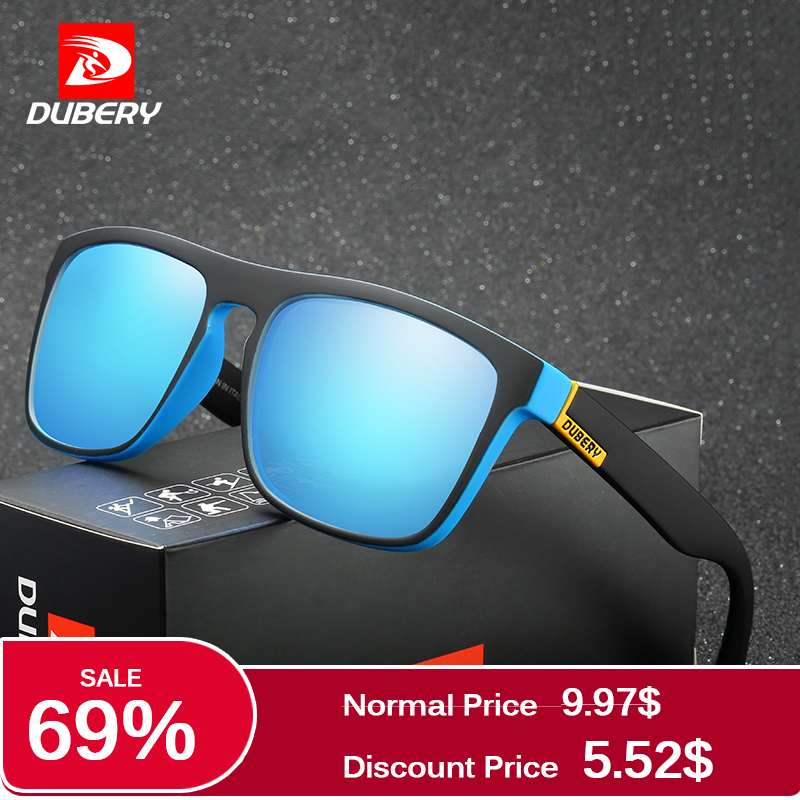 DUBERY Polarized Sunglasses Men's Driving Shades Male Sun Glasses For Men Retro Cheap 2017 Luxury Brand Designer Oculos 2017 new polarized children sunglasses kids personality frame goggles glasses boys girls baby brand shades oculos infantil 2940