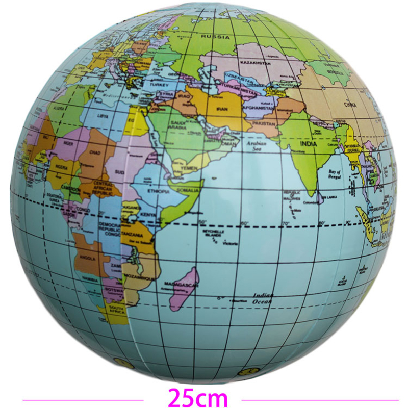CM Inflatable Globe Toy Ball Baby Early Educational Teach Tool - Globe map for kids