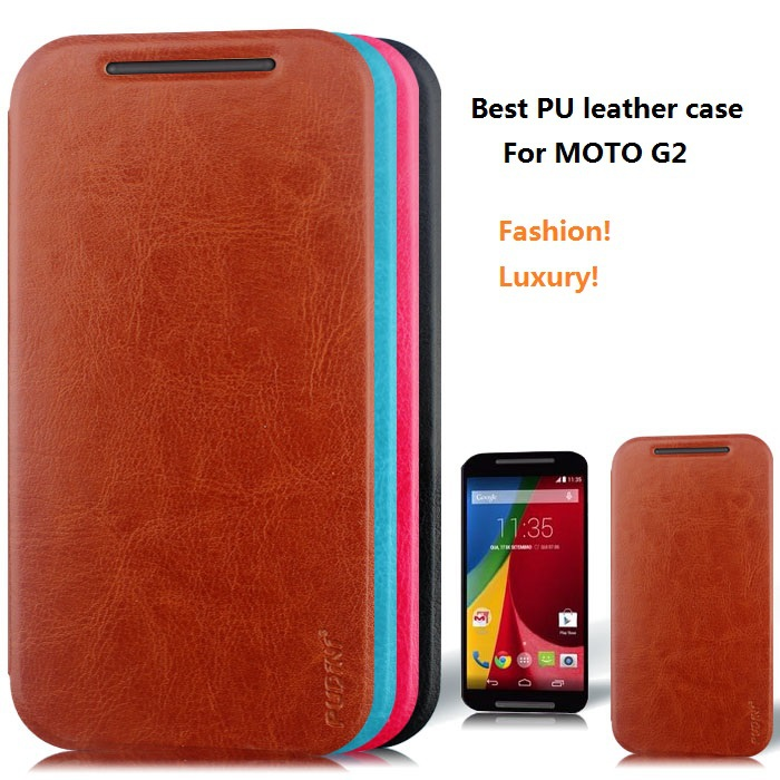 Motorola Moto G2 Case 2014 New Leather Flip Cover motorola moto g2 xt1068 xt1069 xt1063 free+1x HD Film - Shenzhen Zomi Technology Co., Ltd. store