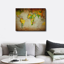 World Map Canvas Print Art The Map of the World Posters And Prints Dorm Office Decor Modern Wall Art Picture Painting Decoration the modern world