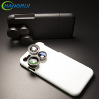For Iphone 6s Case Hybrid 4 In 1 Clip On Fish Eye Camera Lens Wide Angle